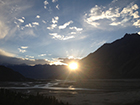 Sunset above the Indus River outside of Skardu, Pakistan