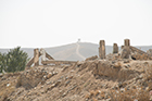 Remains of a bombed building outside of Kabul, Afghanistan