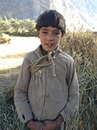 Young boy works the fields, Korphe, Pakistan