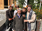 Greg with three of his 1993 K2 porters and the son of Korphe village leader, Haji Ali, Khaplu, Pakistan, 2013