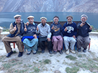 Greg with several of his K2 expedition porters, outside of Skardu, Pakistan, 2013
